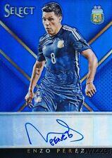 2015 Panini Select Enzo Perez #48/99 Autograph Blue Prizm Mint Argentina