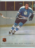 Vintage NHL Hockey Program 1972 Philadelphia Flyers Pittsburgh Penguins Syl Apps