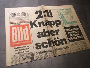 BILDzeitung  28.3.1974 März 28.03.1974 Geschenk Geburtstag 45. 46. 47. 48. 49.