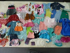 """Large Lot Doll Clothes For 18"""" Dolls - American Girl Our Generation Battat"""