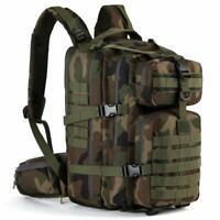 Bug Out Bag Military Tactical Backpack Assault Army Molle Camping Pack CP-Green