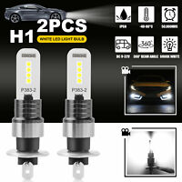 2X H1 Xenon Super White LED Fog Driving Turn Signal Light Bulbs Kits 100W 6000K