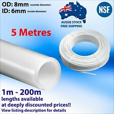 2m x 8mm (OD) 6mm (Internal) LDPE Hose Tubing Water Air Tube Reverse Osmosis