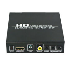 1pc SCART to HDMI Converter PAL/NTSC Support HDMI Connector Output Black