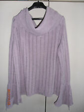 Pull mauve col montant et manches pagode