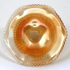 Jeannette Anniversary Carnival Glass Bowl Vintage Glass Marigold Depression Era