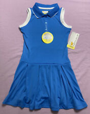 Jack Nicklaus Eco Choice Girls Golf Tennis Dress Light Blue