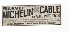Pubblicità PNEUMATICI GOMME MICHELIN AUTO MOTO CAR advertising werbung publicitè