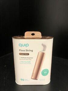Quip Refillable Floss String - Copper Metal
