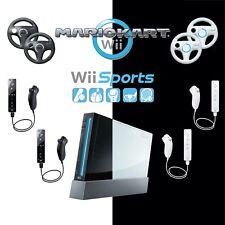 Nintendo Wii Konsole (schwarz / weiß) Kart, Sports + ORIGINAL Remote Controller