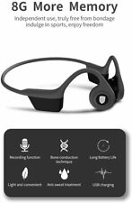 Bone Conduction Headphone Without Bluetooth 8GB Memory MP3 Player Voice Recorder