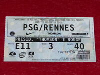 [COLLECTION SPORT FOOTBALL] TICKET PSG / RENNES 20 MAI 2003 Champ.France