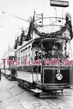 DR 730 - Decorated Tram Car, Opening Day, Derby, Derbyshire 1904 - 6x4 Photo