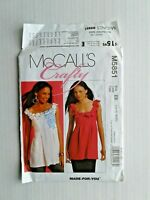 McCalls Crafty 5851 Misses Tunics - Sewing Pattern  Size  14 - 20 UNCUT OOP