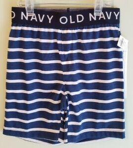 NEW Old Navy Boys Pajama Shorts SIZE 5 Sleep Lounge BLUE WHITE Stripes #8321