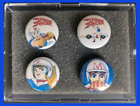 SPEED RACER 1960s TV Series Cartoon Set of 4 1 inch Round CERAMIC Magnets GRP A