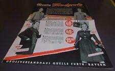 gross versandhaus quelle katalog prospekt heft fundgrube frühjahr mode 1959