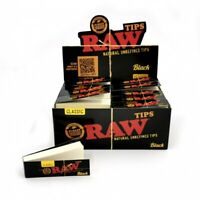 New 1/2/5/10/20 Raw Black Filter Tips Booklet Card Roach for Rolling Papers