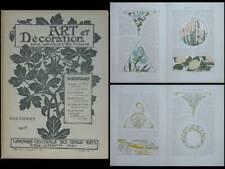 ART ET DECORATION - DECEMBRE 1903 - MUCHA, AURIOL , PILLARD VERNEUIL, GRASSET,