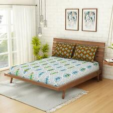 Core Designed by Spaces Omnia Brown 144TC Double BedSheet with 2 PillowCover- FS