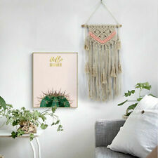 Nordic Simple Art Handmade Tapestry Woven Macrame Tassel Wall Hanging Tapestry