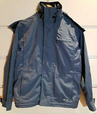 OAKLEY Outdoor Ski Snow Shell Jacket with Fleece Lined Inner Gilet Blue Sz S