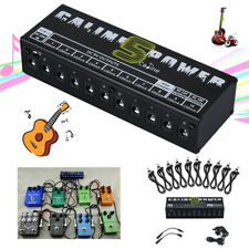 Caline 10 Isolated Guitar Effect Pedal Power Supply for 9v 12v 18v Output DC AA
