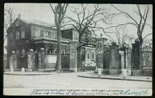 Postcard~ PM 1939~ Johnston Gate~ Harvard Hall~ Harvard University~ C28