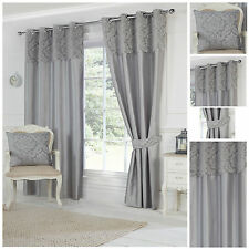 Darcy Top Bordered Eyelet/Ring Top Lined Curtain Pairs By Hamilton McBride