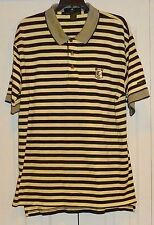 LYLE & SCOTT- YELLOW/NAVY STRIPE PIQUE SS POLO SHIRT - MENS L