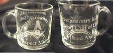 """Masonic 13 oz. Coffee Cup with saying """"Freemasonry is like a good cup of Coffee"""""""
