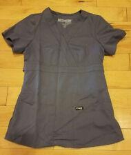 Grey's Anatomy Mock Wrap Granite Scrub Top, Women's Xxs worn once