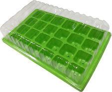 Minigewächshaus 24 Zellen - 3 Stück Anzuchtschale Anzuchttöpfe Gewächshaus