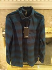 NWT $118 Lululemon Mens Masons Peak Flannel Shirt Blue/blk (zubb) L/S XL