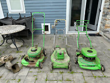 Lawn Boy 3 vintage 2 stroke mowers electric rare F series w/ Extra Parts As Is