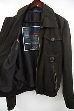 Dolce & Gabbana D&G Bufalo Leather Bomber Jacket Size 40