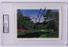5 Masters Winners-Multi Signed Masters Greeting Card PSA  Agusta National