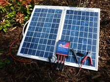 Compact Portable 24 Watt Solar Panel Battery Charging Kit