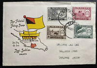1957 Seremban Malaya First Day Cover FDC To Tanjong Malim New Pictorial Stamp