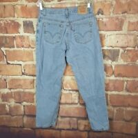 Levi's 550 Relaxed Tapered Womens Jeans Size 12 Short 28 Inseam Vintage