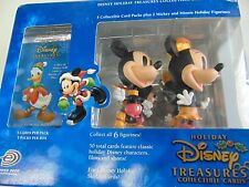 DISNEY TREASURES COLLECTIBLE CARDS HOLIDAY MICKEY AND MINI ON ICE NEW GM664
