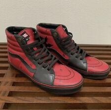 Vans x Marvel SK8-Hi Deadpool Red/Black Leather Limited Edition Mens Size 10.5