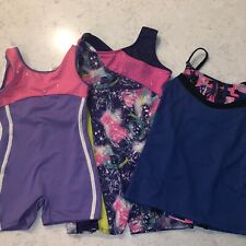 Lot Of Girls Gymnastics Leotards Sizes 4/5 6/6x And 7/8
