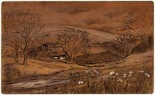 MARGARET E. Z. LEVINSON Signed Aquatint Etching THE HIDDEN HOUSE - 20TH CENTURY