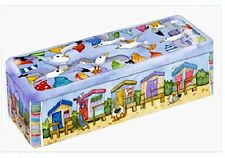 Emma Ball Coastal Long Rectangular Lidded Storage Tin - Great for Crackers etc