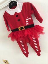 Next Baby Girls Christmas Santa Sleepsuit Christmas Outfit 0-3 Months Xmas Tutu