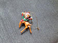 Grolier Disney Bambi with Santa Hat Christmas Ornament  (26231 120)