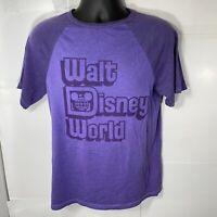 Disney Parks Purple Raglan T Shirt Walt Disney World Men's Size Small