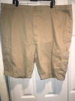 Wrangler Shorts Size 46 Cargo Mens Tan Cotton Khaki C16