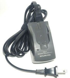 """Genuine Olympus LI-10C Lithium Ion Battery Charger w/ Cord.  *Untested """"As Is""""**"""
